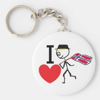 I Love Norway 2 Keychain