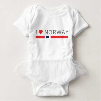 I love Norway Baby Bodysuit