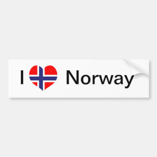 I love Norway Bumper Sticker
