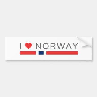 I love Norway Bumper Sticker