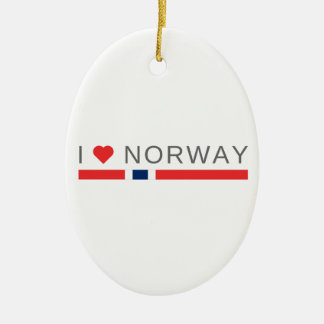 I love Norway Ceramic Ornament
