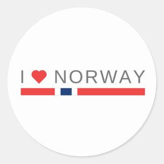 I love Norway Classic Round Sticker