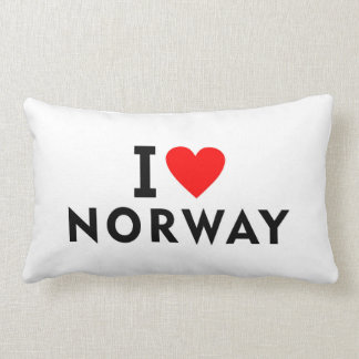 I love Norway country like heart travel tourism Lumbar Pillow