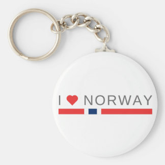 I love Norway Keychain