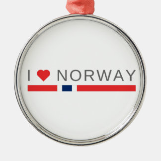 I love Norway Metal Ornament