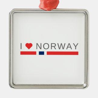 I love Norway Metal Ornament