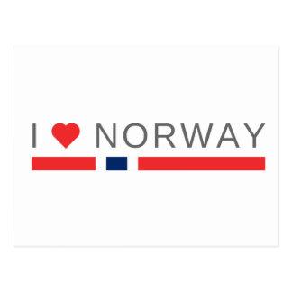 I love Norway Postcard