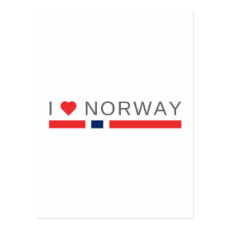 I love Norway Postcard
