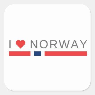 I love Norway Square Sticker
