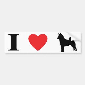 I Love Norwegian Elkhounds Bumper Sticker