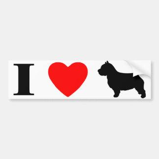 I Love Norwich Terriers Bumper Sticker