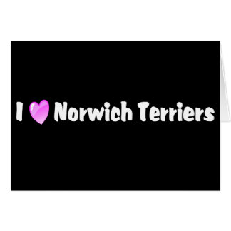 I Love Norwich Terriers Greeting Card