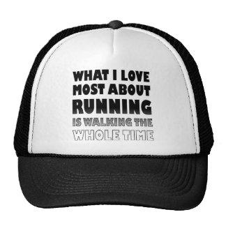 I Love Not Running Funny Ball Cap Trucker Hat