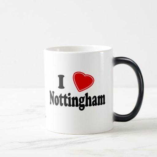 I Love Nottingham 11 Oz Magic Heat Color-Changing Coffee Mug