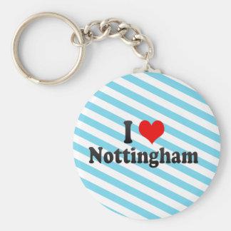 I Love Nottingham, United Kingdom Keychain