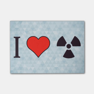I Love Nuclear Energy Post-it Notes