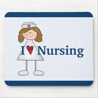 I Love Nursing Cute Nurse Mouse Pad