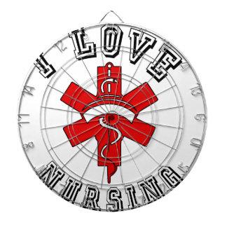 i love nursing health dartboard