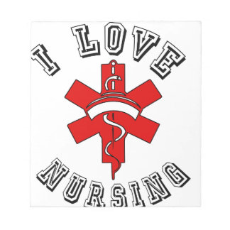 i love nursing health notepad