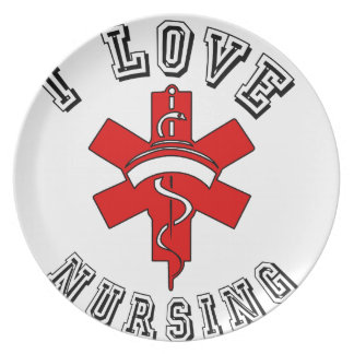 i love nursing health plate