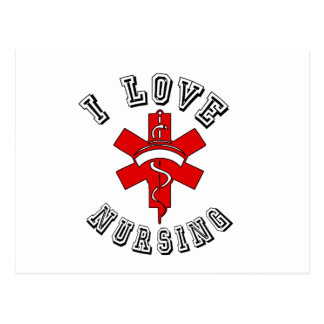 i love nursing health postcard
