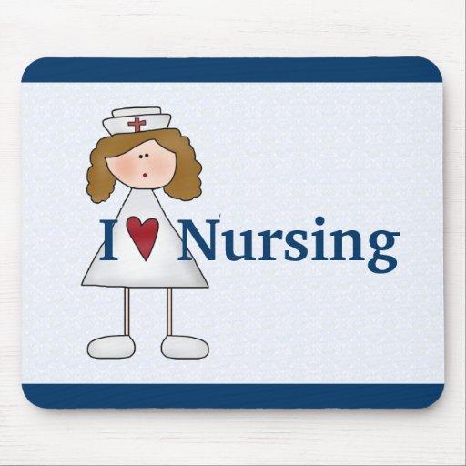 """I Love Nursing"" Mousepads"