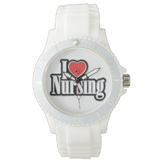 """I Love Nursing"" Sporty Silicon Watch"