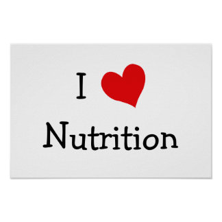 I Love Nutrition Poster