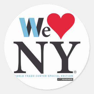 I LOVE NY, WE LOVE NY, DO YOU? CLASSIC ROUND STICKER