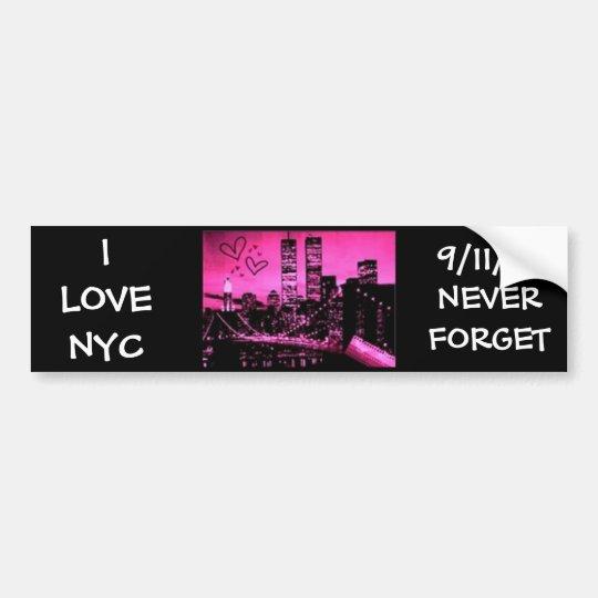I LOVE NYC, 9/11/01 BUMPER STICKER