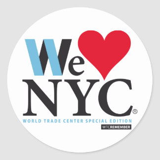 I LOVE NYC, WE LOVE NYC, DO YOU? ROUND STICKER