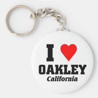 I love Oakely, California Keychain