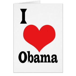I Love Obama Card