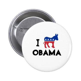 I Love Obama Donkey Button