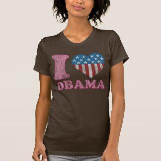 I Love Obama Vinatge Style Iheart Tee Shirt
