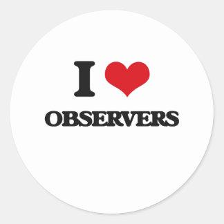I Love Observers Classic Round Sticker