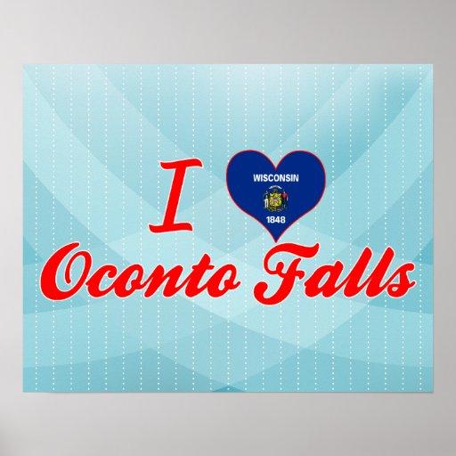 I Love Oconto Falls, Wisconsin Posters