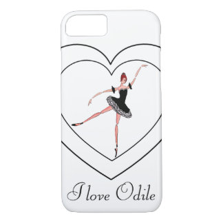 I LOVE ODILE, BALLET CASE, SWAN LAKE BALLERINA iPhone 8/7 CASE