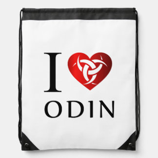 I love Odin Drawstring Bag
