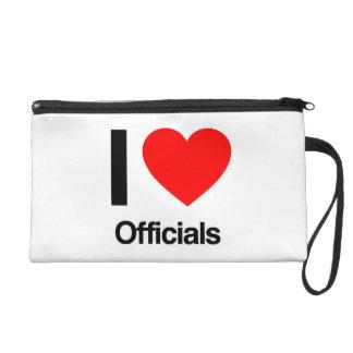 i love officials wristlet purses