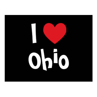 I Love Ohio Postcard