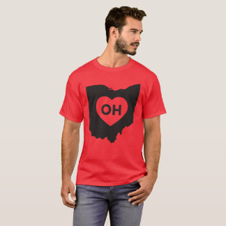 I Love Ohio State Men's Basic Dark T-Shirt