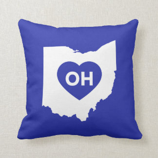 I Love Ohio State Throw Pillow