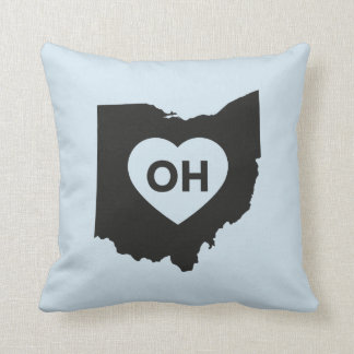 "I Love Ohio State Throw Pillow 16"" x 16"""