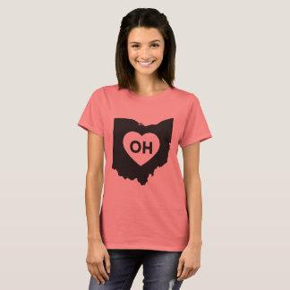 I Love Ohio State Women's Basic T-Shirt