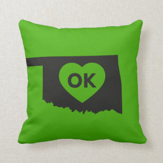 I Love Oklahoma State Pillow