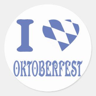 I love oktoberfest round sticker
