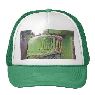 I love old green tractors trucker hat