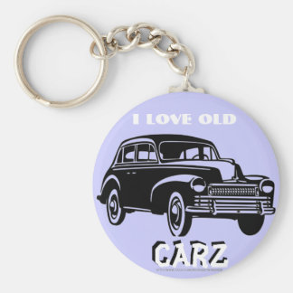 """I love old Vintage Carz!"" Keychain"