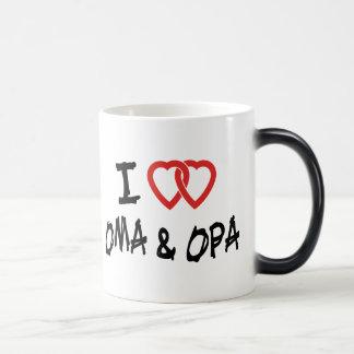 I Love Oma & Opa Magic Mug